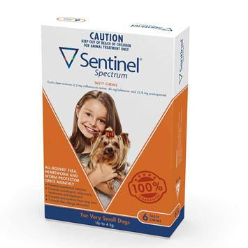 Sentinel For Very Small Dogs Up To 4Kg 6pk