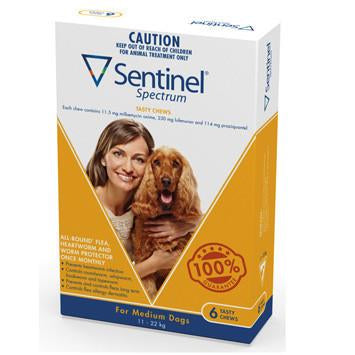 Sentinel For Medium Dogs 11-22Kg 6 Chews