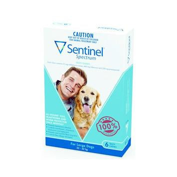 Sentinel For Large Dogs 22-45Kg 6 Chews