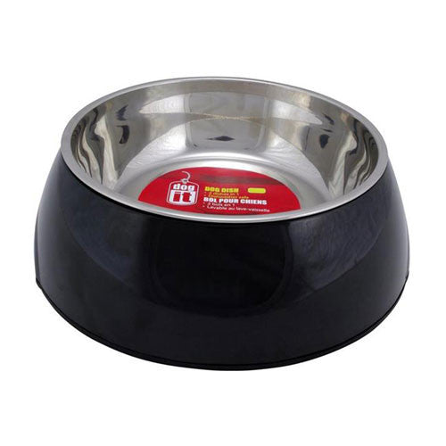2 in 1 Dog Bowl Black 160ml