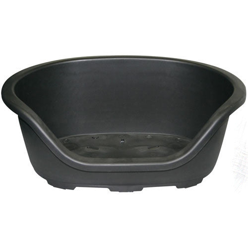 Dog Bed Plastic Oval Black 48cm