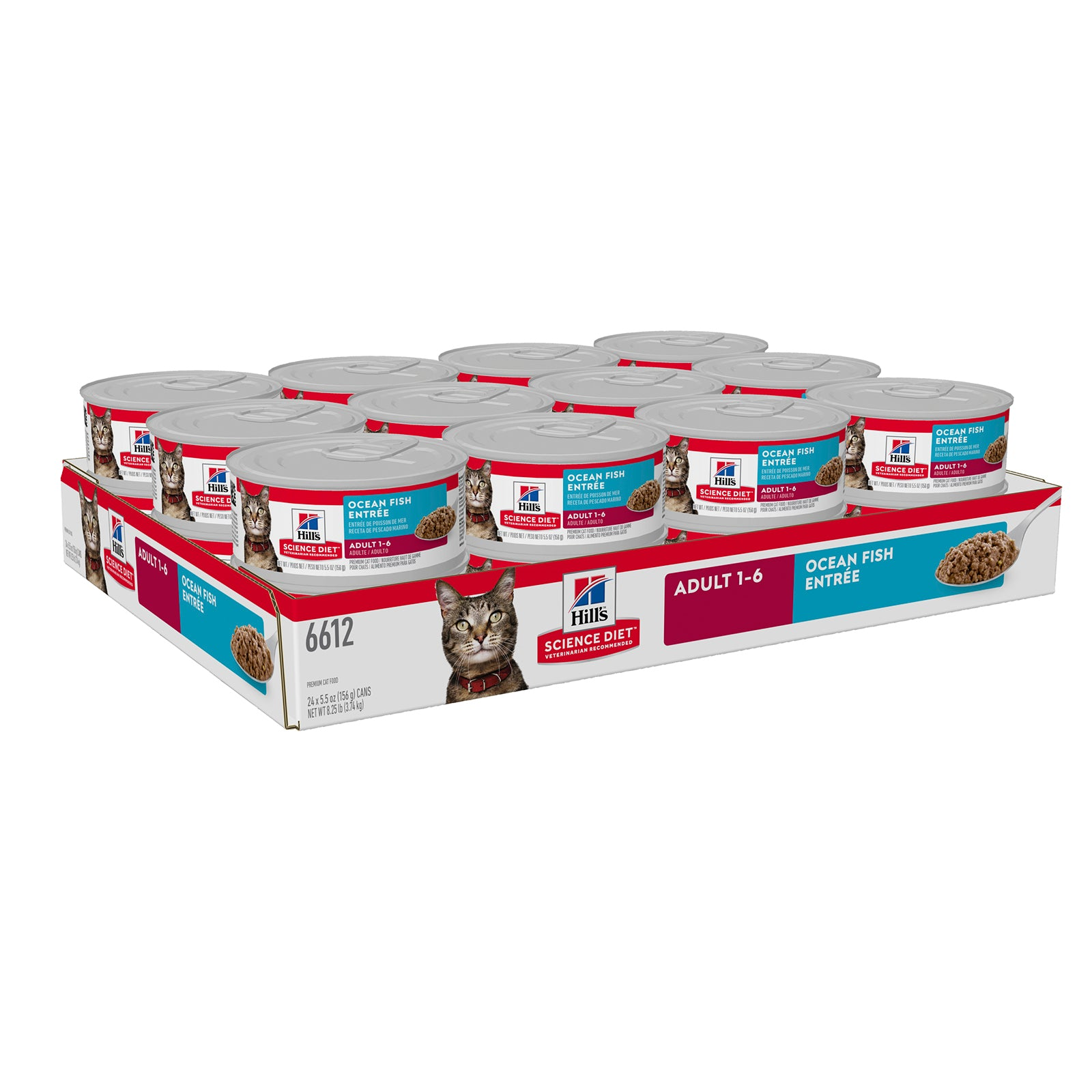 Hills Cat Food Can Adult Ocean Fish Entree