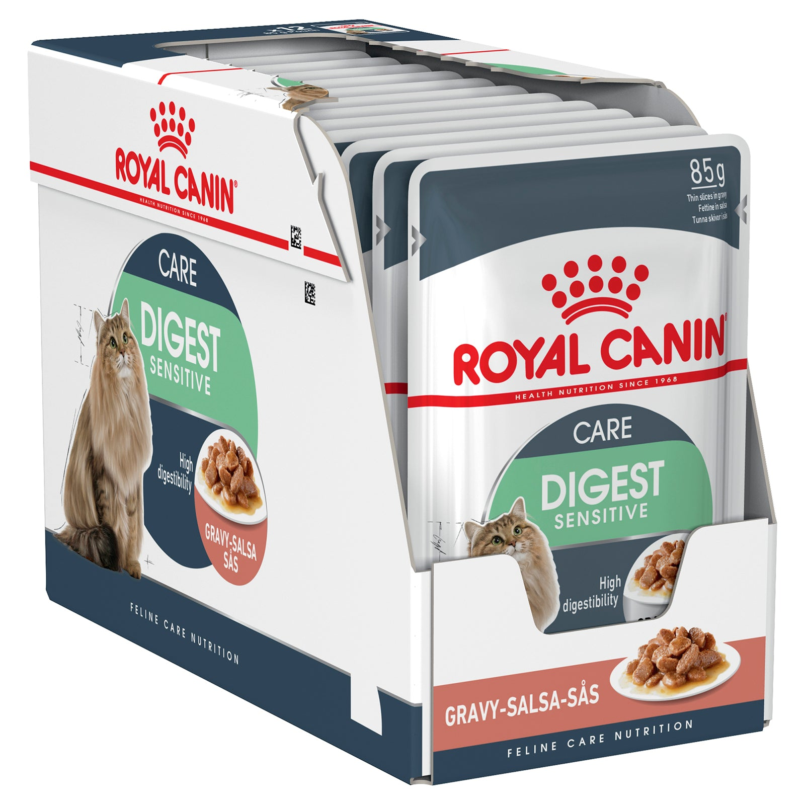 Royal Canin Cat Food Pouch Adult Digest Sensitive