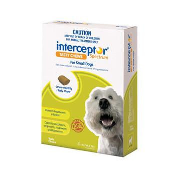 Interceptor For Dogs 4-11kg 3pk