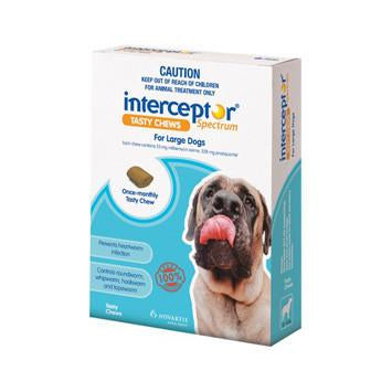 Interceptor For Dogs 22-45kg 3pk