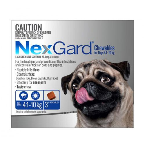Nexgard For Medium Dogs 4.1-10kg 3pk