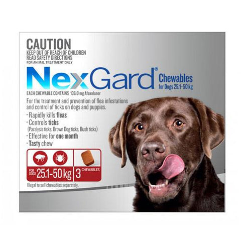 Nexgard For  XLarge Dogs 25.1-50kg 3 Pack