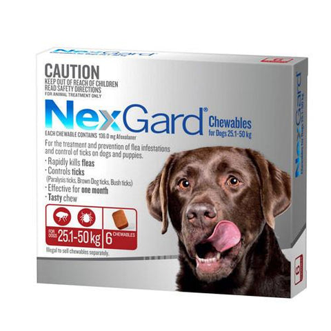 Nexgard For XLarge Dogs 25.1-50kg 6 Pack