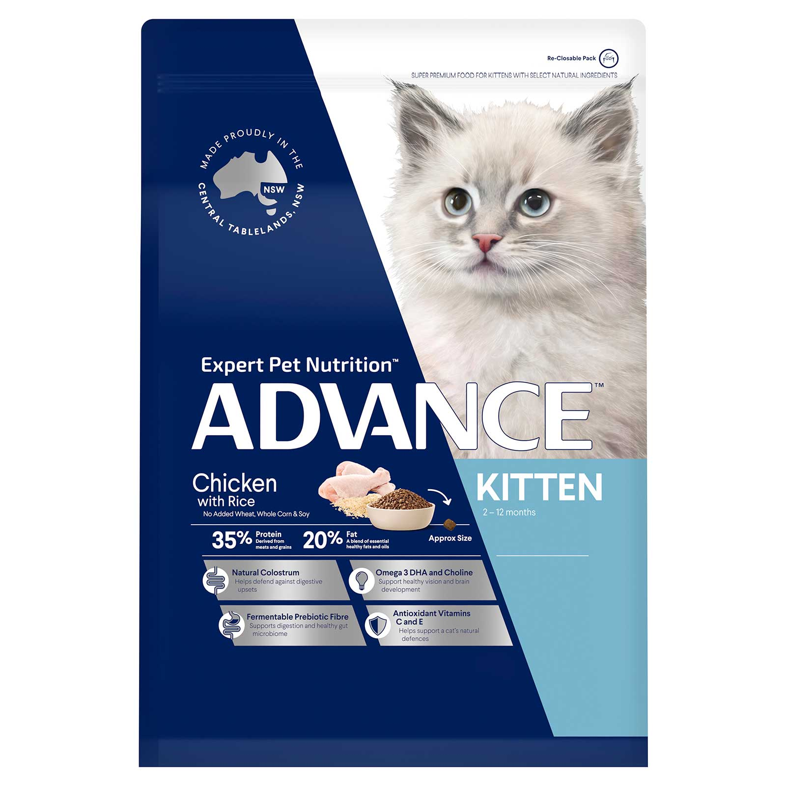 Advance Cat Food Kitten Chicken with Rice