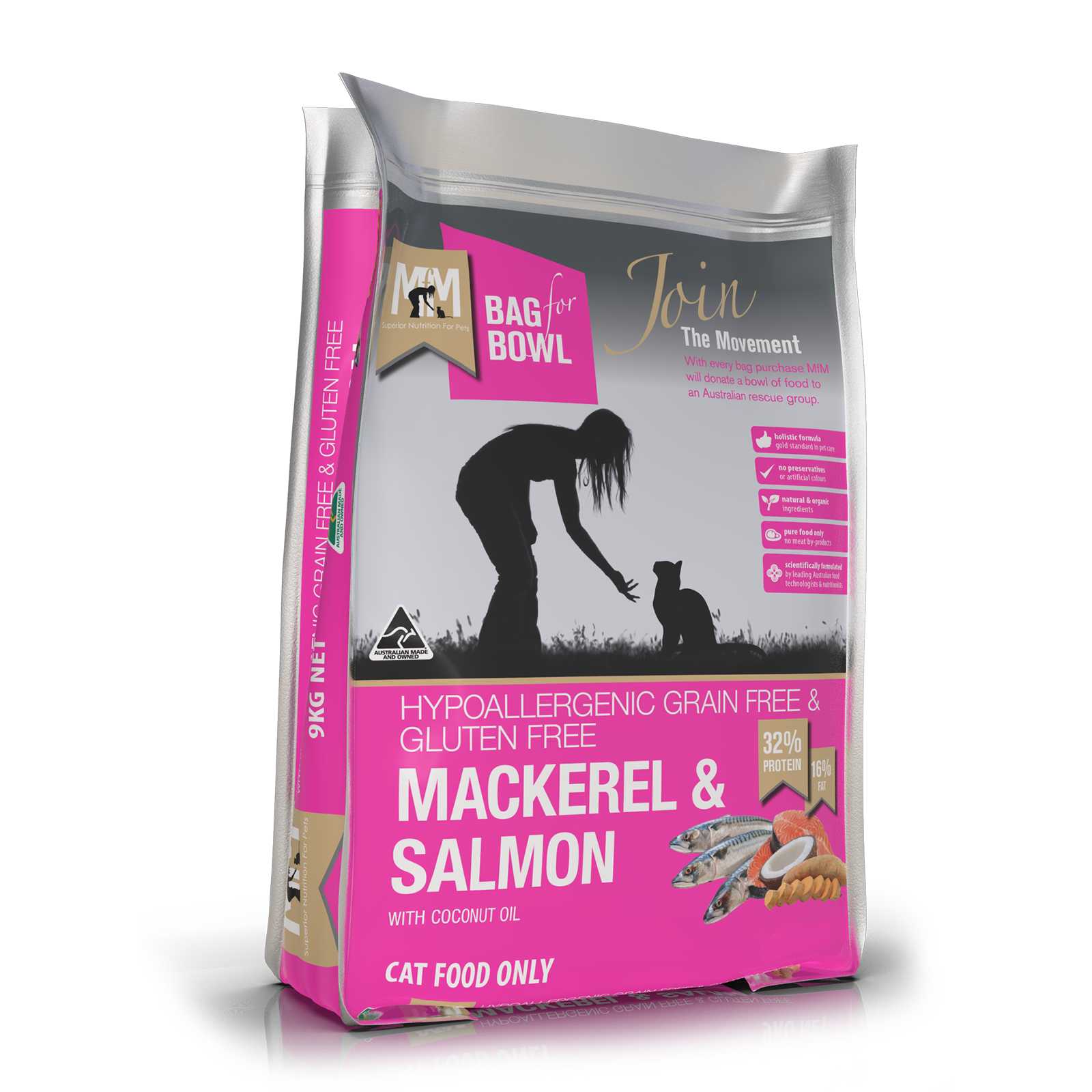 Meals For Meows Grain Free Cat Food Adult Mackerel & Salmon