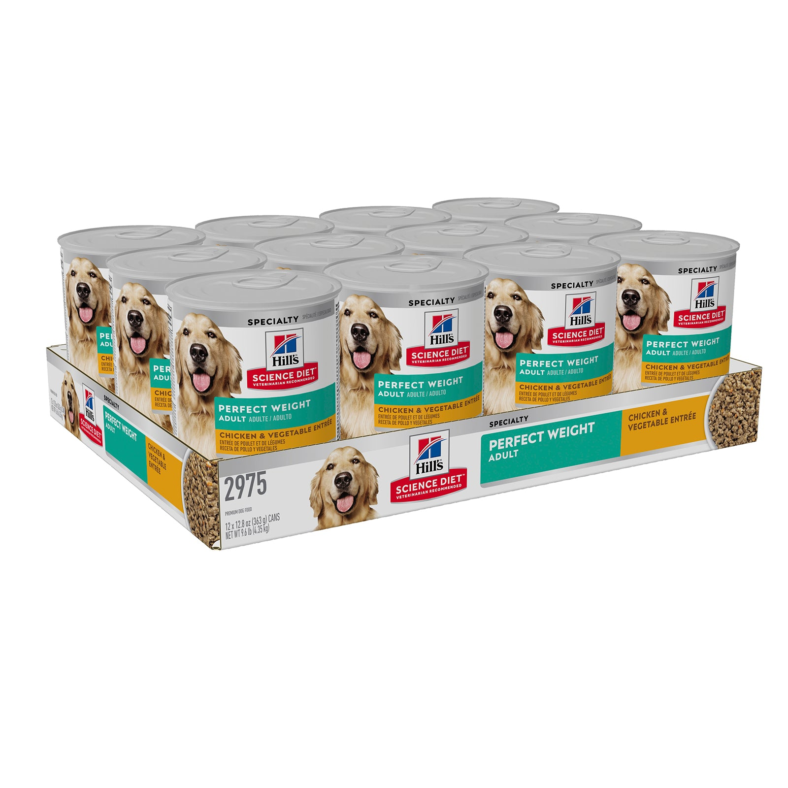Hills Dog Food Can Adult Perfect Weight Chicken & Vegetable Entrée