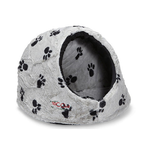 Cat Igloo Large Silver/Black SNZ