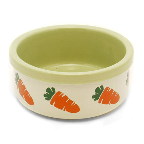 Bowl Ceramic Carrot 4.6in