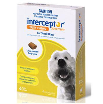 Interceptor For Dogs 4-11kg 6pk