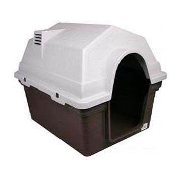 Pet One Plastic Dog Kennel Chocolate Medium