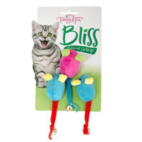 Bliss Mice Bell Cat Toy 3pk