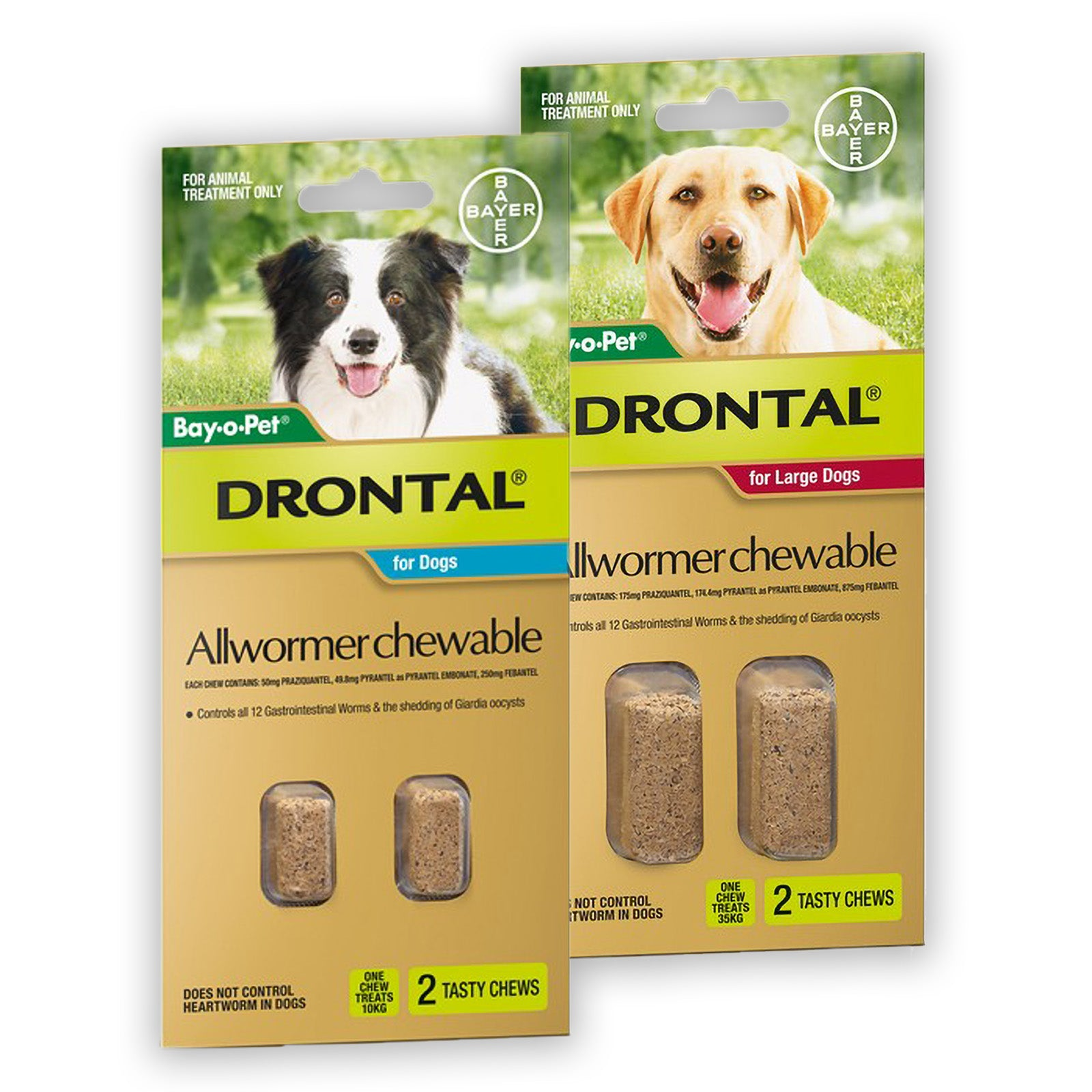 Drontal Chewable Worming Tablets for Dogs
