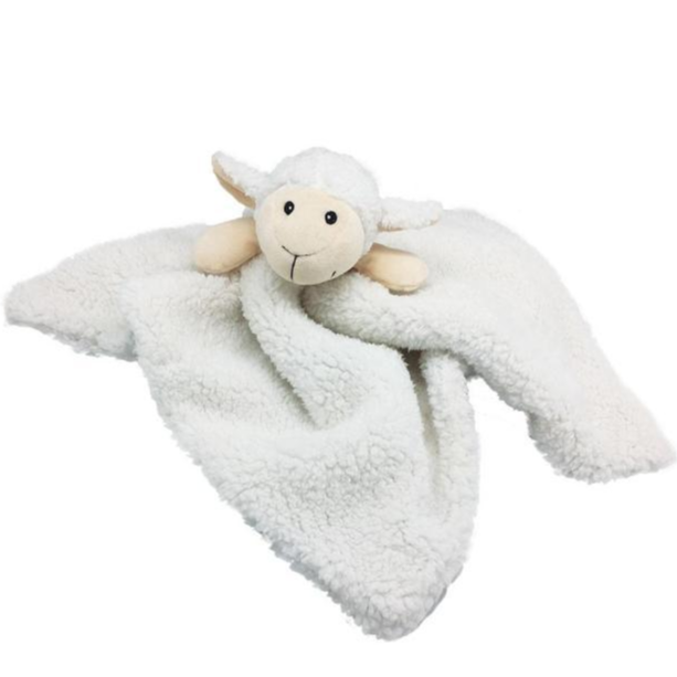 Furry Face Comfort Blankie Lamb Dog Toy