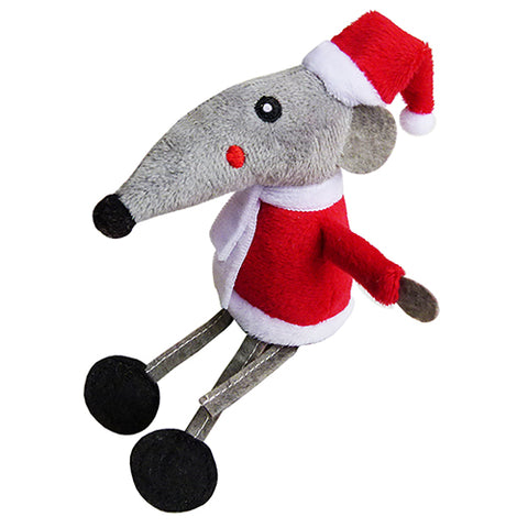 Xmas Cat Toy Father Christmas Mouse