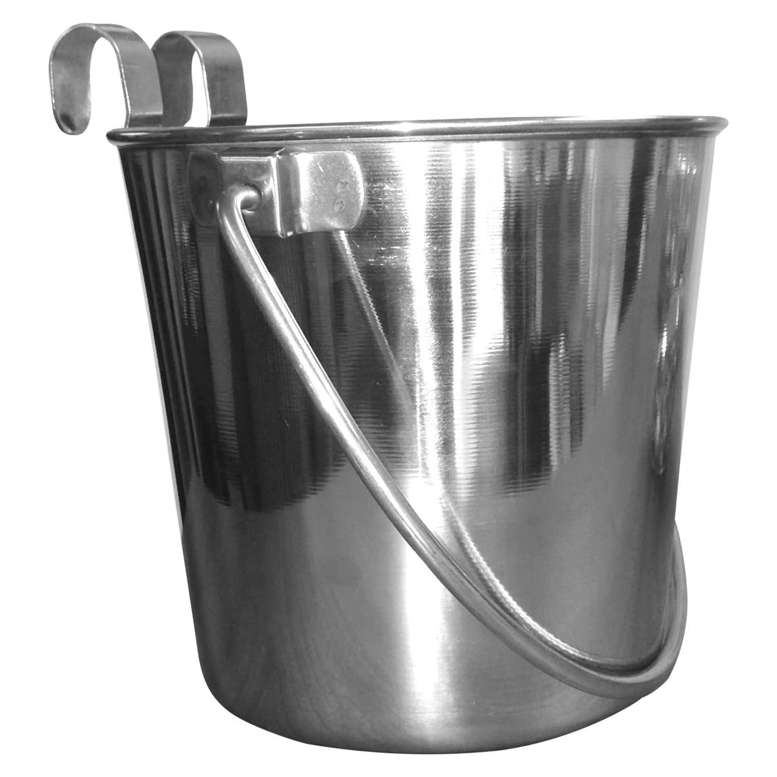 Stainless Steel Flat Sided Dog Bucket
