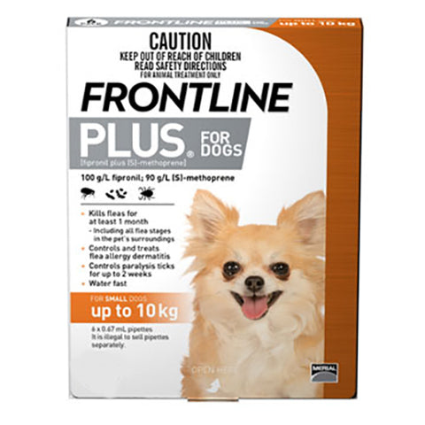 Frontline For Dogs Up To 10Kg