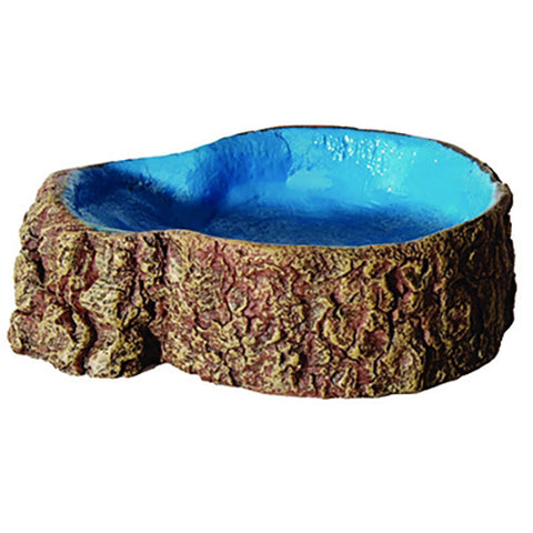 Bowl Tree Stump Blue Sml