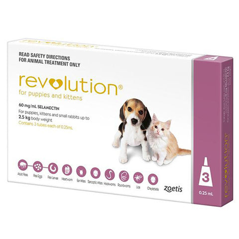 Revolution Puppy & Kitten Up To 2.5kg 3pk