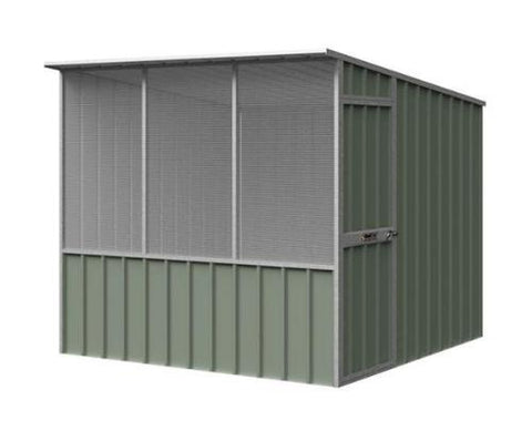 Skillion Roof Fowl House- Zinc (1.52 x 1.52m)