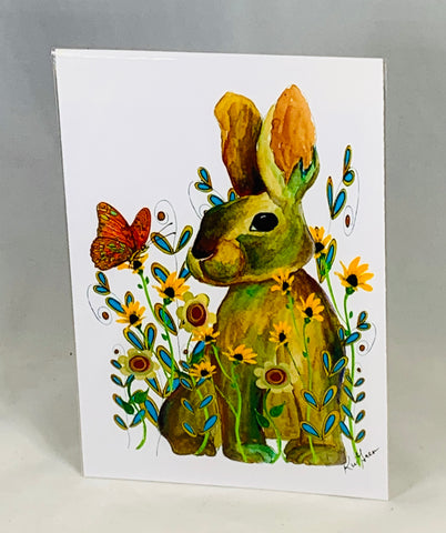 Bunny in Flowers