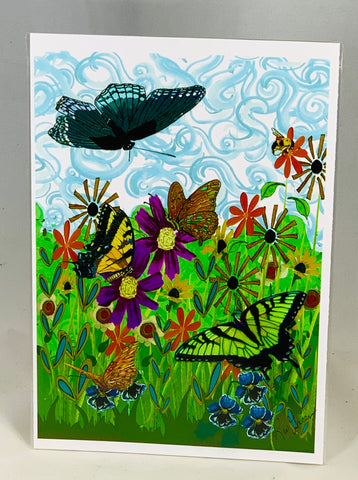 Butterflies in Flowers 3