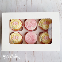 Load image into Gallery viewer, Happy Birthday Cupcake Box