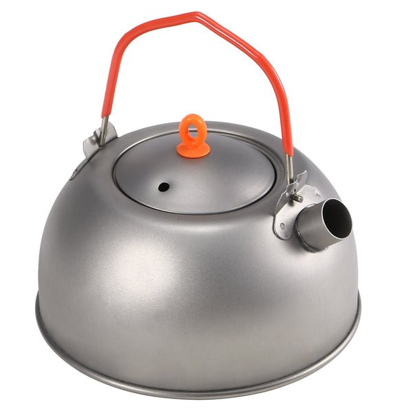 Large Silver Titanium Tea Kettle