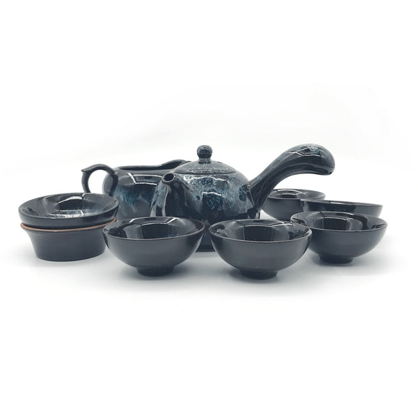 Ceramic Tea Cup Set with Tea Pot