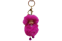 Baby Sleeping With Ghungroo Cute Keychain & Bag Hanging