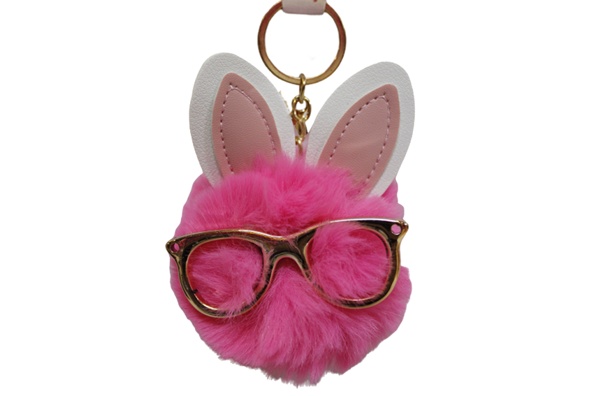 Fur With Glasses Cute Keychain & Bag Hanging