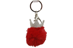 Crown With Fur Cute Keychain & Bag Hanging