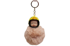 Baby Sleeping With Helmet Cute Keychain & Bag Hanging