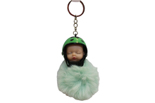 Load image into Gallery viewer, Baby Sleeping With Helmet Cute Keychain & Bag Hanging