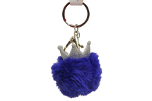Load image into Gallery viewer, Crown With Fur Cute Keychain & Bag Hanging