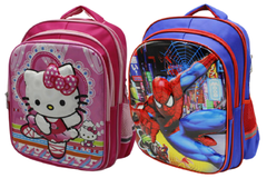 Cartoon Character School Bag For Grade-1 And Grade-2 (6016-16)