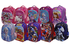Cartoon Character School Bag For Grade-1 And Grade-2 (6018-16)