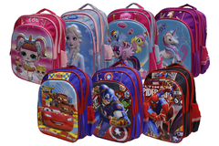Cartoon Character School Bag For Grade-3 And Above (6018-18)