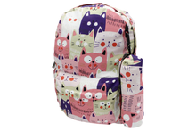 Load image into Gallery viewer, Cat Design Backpack Bag (395)