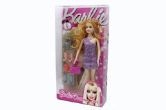Barbie Glitter Girl Doll Pink Flower (8655C-1)