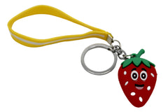 Strawberry Keychain & Bag Hanging With Bracelet