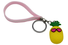 Pineapple Keychain & Bag Hanging With Pink Bracelet