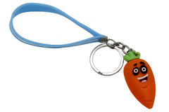 Carrot Keychain & Bag Hanging With Blue Bracelet