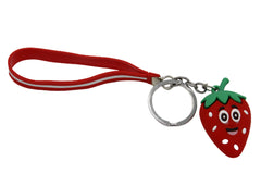 Strawberry Keychain & Bag Hanging Red Strap