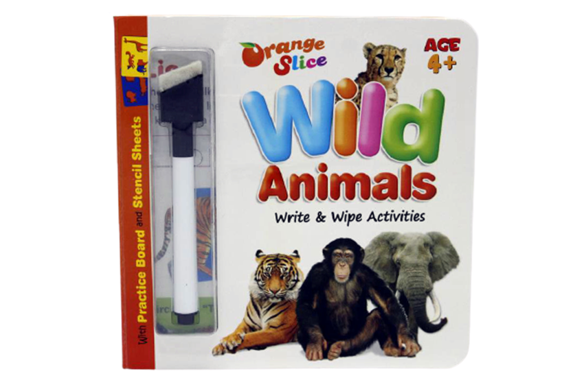 Wild Animals Write & Wipe Activities Board Book