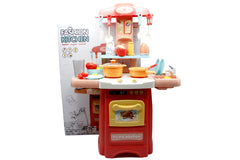 Fashion Kitchen Battery Operated Kitchen Set with Sink (889-176)